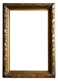 Antique Golden frame. Photo of Antique Golden frame isolated on white background Stock Photo