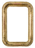 Antique golden frame Stock Image