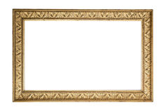 Antique golden frame. Beautiful golden frame on white background Stock Photography