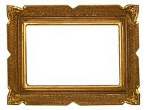 Antique golden frame. Antique painting golden frame Royalty Free Stock Photography