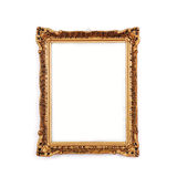 Antique golden frame, isolated. On white background Stock Photography