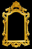 Antique golden frame isolated on black background Royalty Free Stock Photos