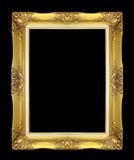 Antique golden frame isolated on black background Royalty Free Stock Image