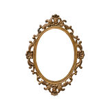 Antique golden frame. Isolated on white background Stock Image