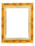 Antique golden frame isolated Stock Photos