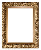 Antique golden frame isolated on white background Royalty Free Stock Photo