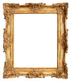Antique golden frame isolated on white Royalty Free Stock Images
