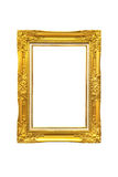 Antique golden frame isolated on White background Stock Images