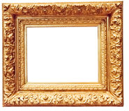 Antique golden frame isolated Stock Image