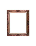 Antique golden frame isolated on white Stock Photo