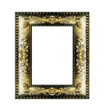 Antique golden frame isolated on white. Background Royalty Free Stock Image