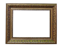 Antique golden frame isolated on white Royalty Free Stock Image