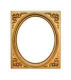 Antique golden frame. Stock Photos