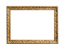 Antique golden frame. Antique golden frame isolated on white background stock image