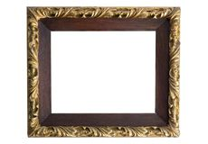 Antique golden frame isolated Royalty Free Stock Photography