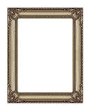 Antique golden  frame isolated on white background, with clippin Stock Image