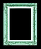Antique golden  frame isolated on white background, with clippin Royalty Free Stock Images
