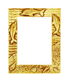 antique golden frame isolated on white background, clipping path Royalty Free Stock Image