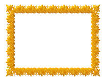 Antique golden frame isolated on white background Royalty Free Stock Images