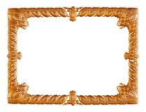 Antique golden frame isolated on white background Royalty Free Stock Photography