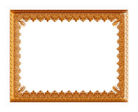 Antique golden frame isolated on white background Stock Photo