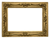 Antique golden frame Stock Images