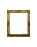 Antique golden frame  on white Royalty Free Stock Photography