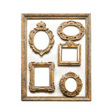 Antique golden frames Stock Image