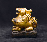 An antique golden lion Stock Photo