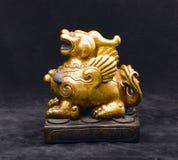 An antique golden lion Stock Photo