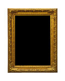 Antique golden old picture frame Stock Image