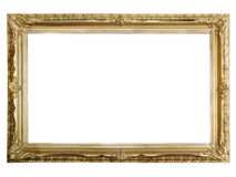 Antique golden picture frame Stock Photos