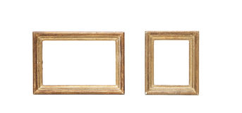 Antique golden picture frame Stock Images