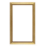 Antique golden picture frame isolated on white Stock Photography