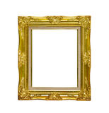 Antique golden picture frame isolated on white background,clippi Stock Photo
