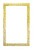 Antique golden wooden frame isolated Royalty Free Stock Photo