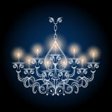 Antique gothic vintage chandelier Royalty Free Stock Images