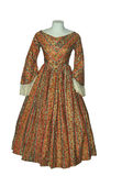 Antique Gown. On dummy Isolated with clipping path Stock Photo