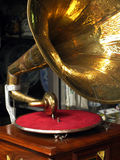 Antique gramophone stock photo