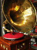 Antique gramophone Stock Images
