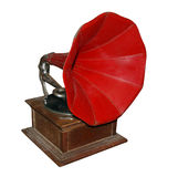Antique Gramophone. Antique Gramaphone isolated with clipping path Royalty Free Stock Photo