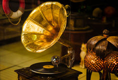 Antique Gramophone Stock Photography