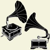 Antique Gramophone Vector 01 Royalty Free Stock Photo