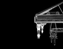 Antique grand Piano with path Stock Photos
