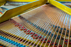 Antique Grand Piano Sounding Board Royalty Free Stock Images