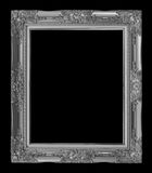 antique gray frame isolated on black background, clipping path Royalty Free Stock Photography