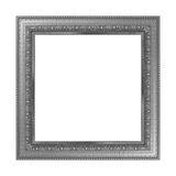 Antique gray frame isolated on white background. Antique gray frame isolated on white background Stock Photo