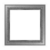 Antique gray frame isolated on white background. Antique gray frame isolated on white background Royalty Free Stock Photo