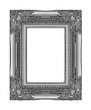 Antique gray frame isolated on white background, clipping path.  Royalty Free Stock Photo
