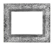 antique gray frame isolated on white background, clipping path Stock Images